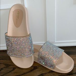 Shoes - Rhinestone sparkly slides